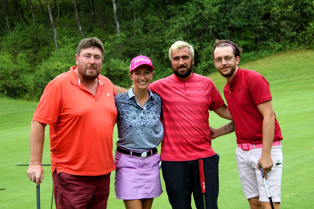 trophee art-en-ciel - quatre participants au golf de belle dune